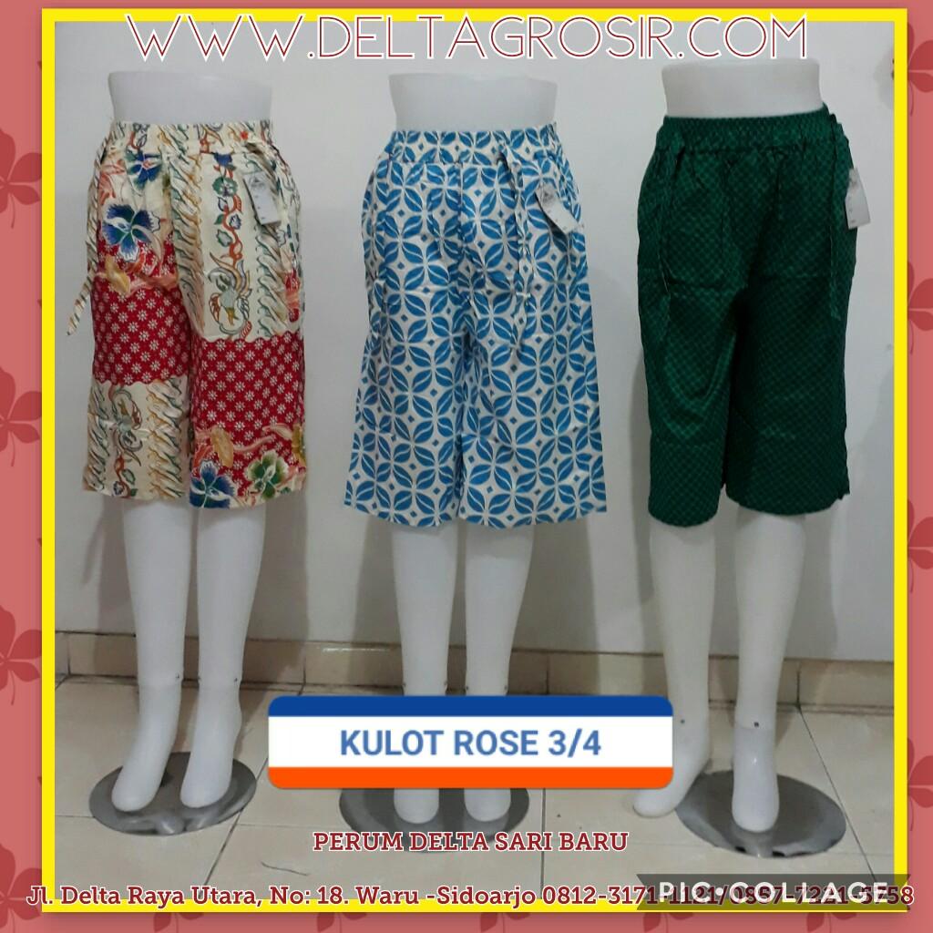 Supplier Celana Kulot Rose 3/4 Wanita Dewasa Murah Surabaya 27Ribu