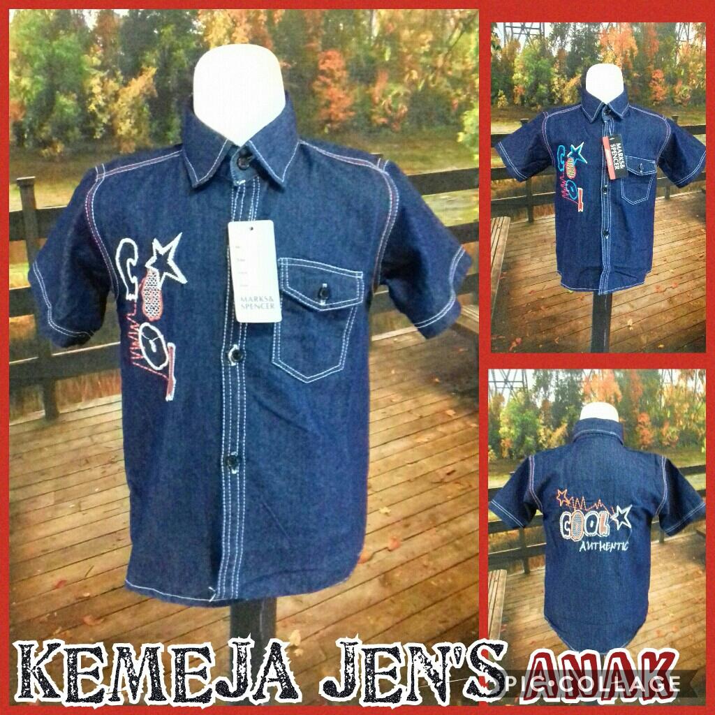 Supplier Kemeja Jeans Anak Laki Laki Murah Surabaya