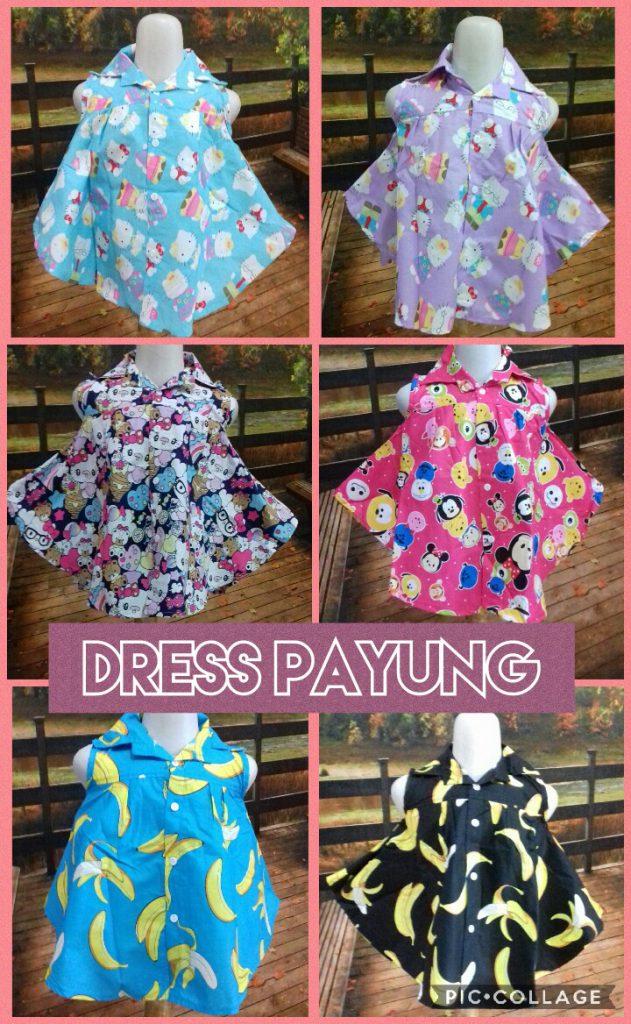 Distributor Dress Payung Anak Perempuan Murah 22ribuan