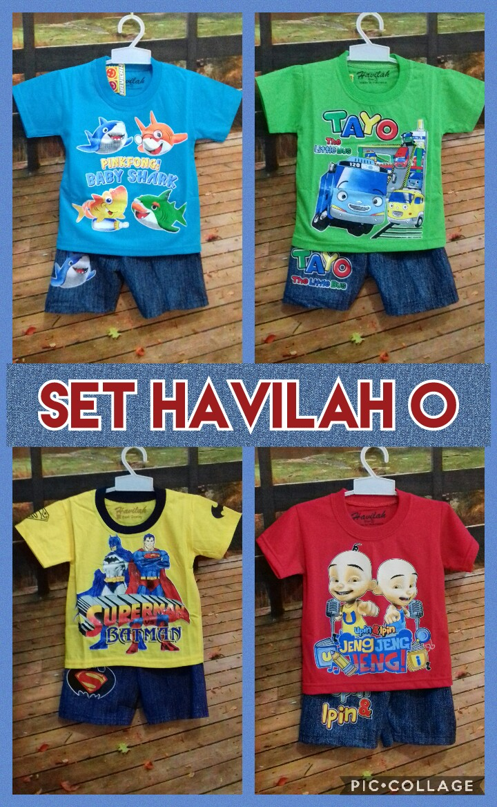 Distributor Baju Anak Set Havilah O Murah Surabaya 18ribuan