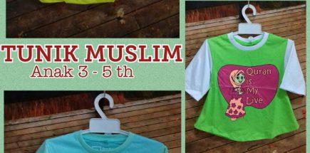 Pabrik Kaos Tunik Muslim 3-5 th Murah Surabaya 20ribuan