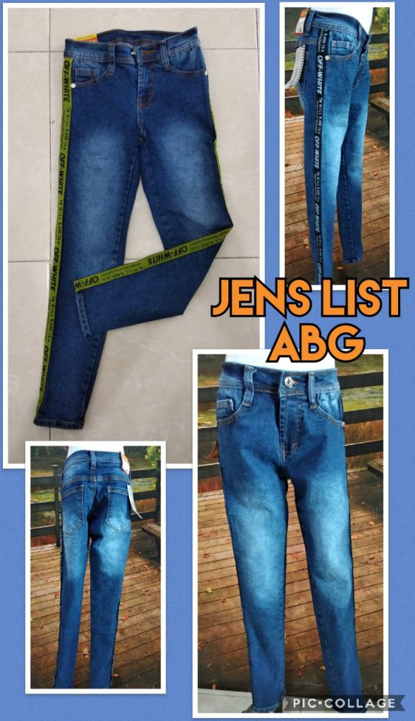 Produsen Jeans List ABG Terbaru Murah 58ribuan