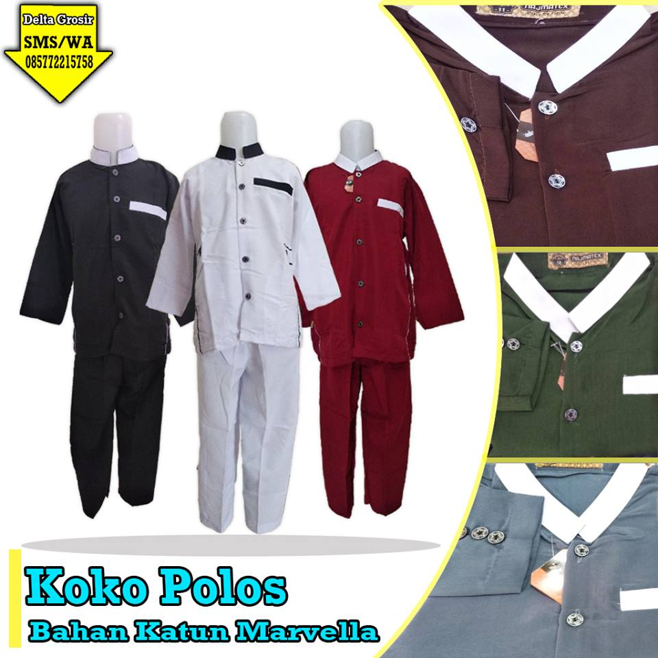 Distributor Koko Polos Anak Murah di Surabaya