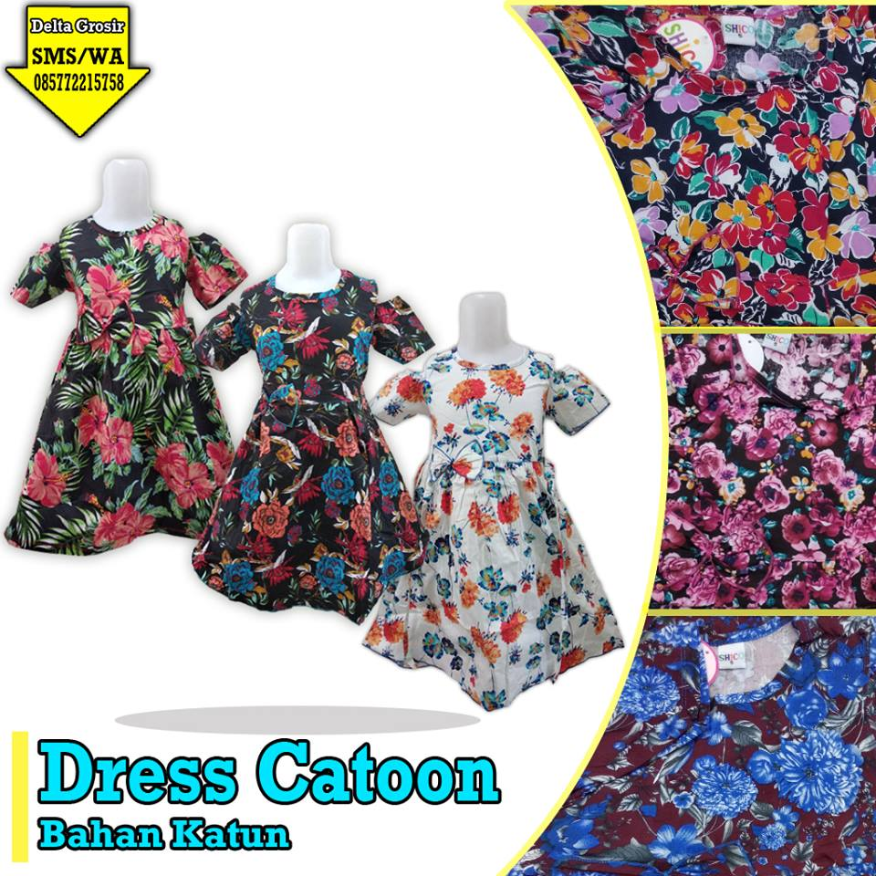 Grosir Dress Cotton Anak Murah