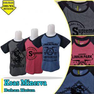 Grosir Kaos Minerva Anak Murah 15ribuan
