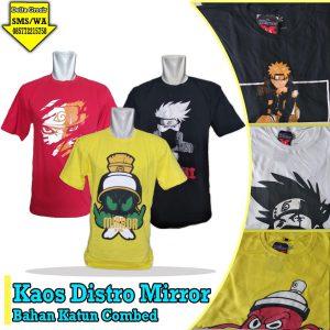 Pusat Grosir Kaos Distro Mirror Murah 34ribuan