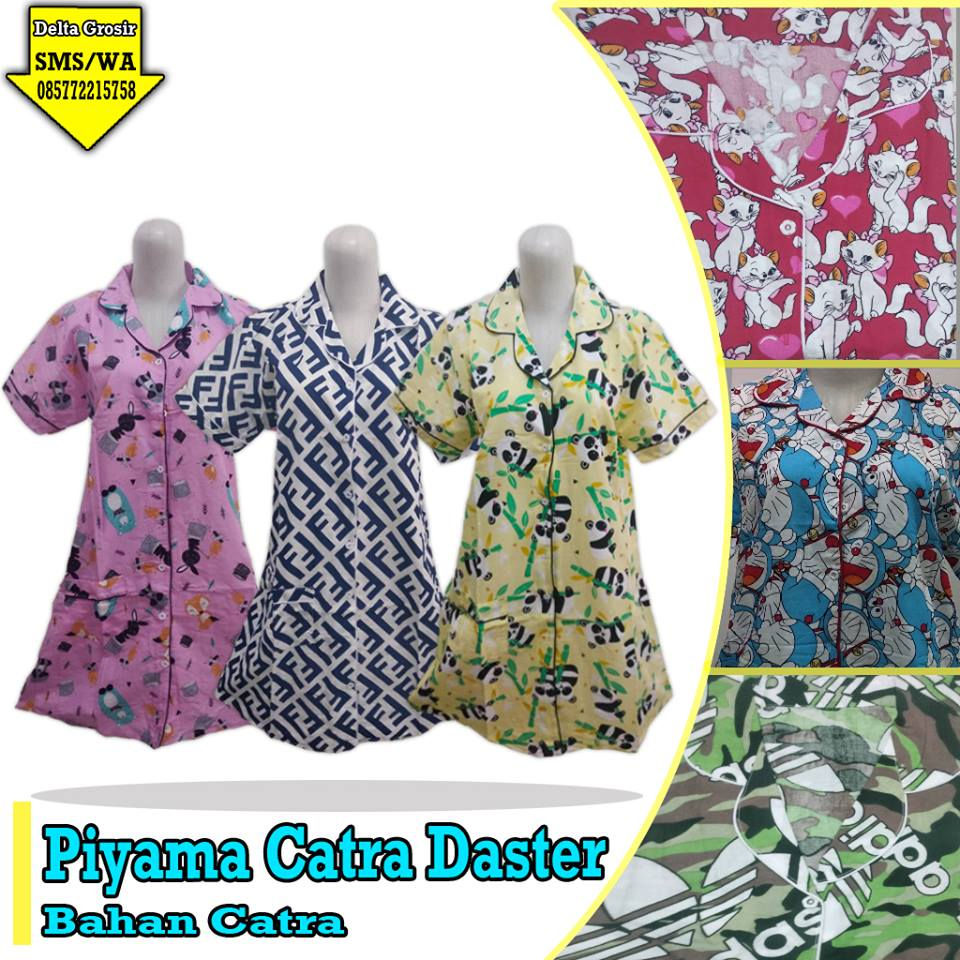 Distributor Piyama Catra Daster Dewasa Murah 45ribuan