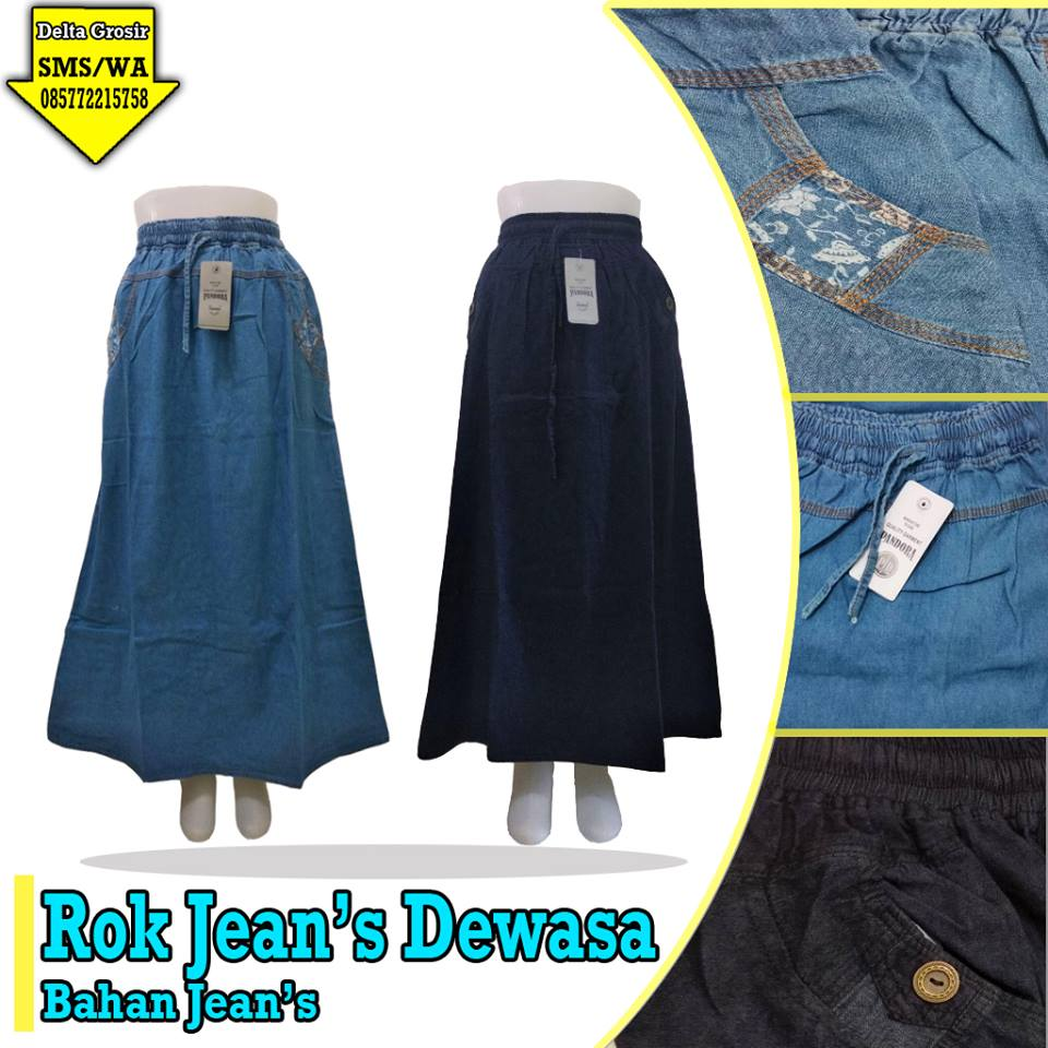 Supplier Rok Jeans Dewasa Murah