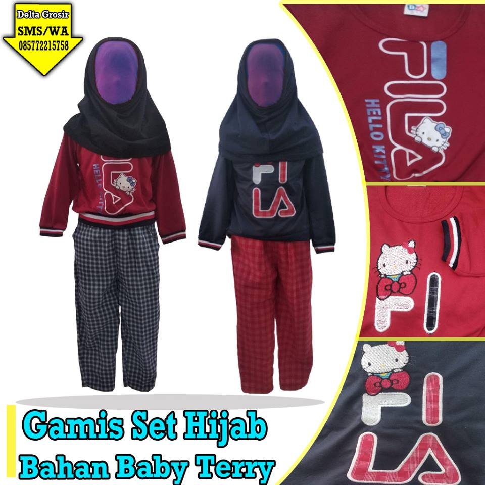 Supplier Gamis Set Hijab Murah