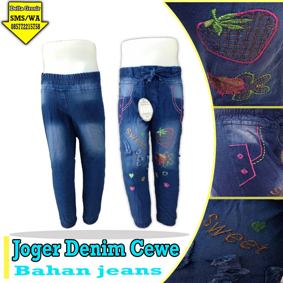Distributor Jogger Jeans Anak Cewe Murah