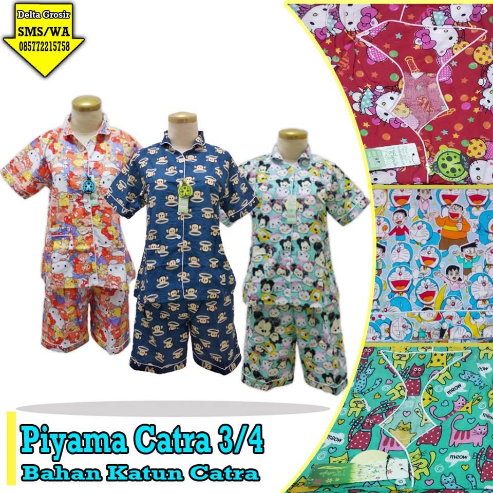 Supplier Piyama Catra 3/4 Dewasa Murah