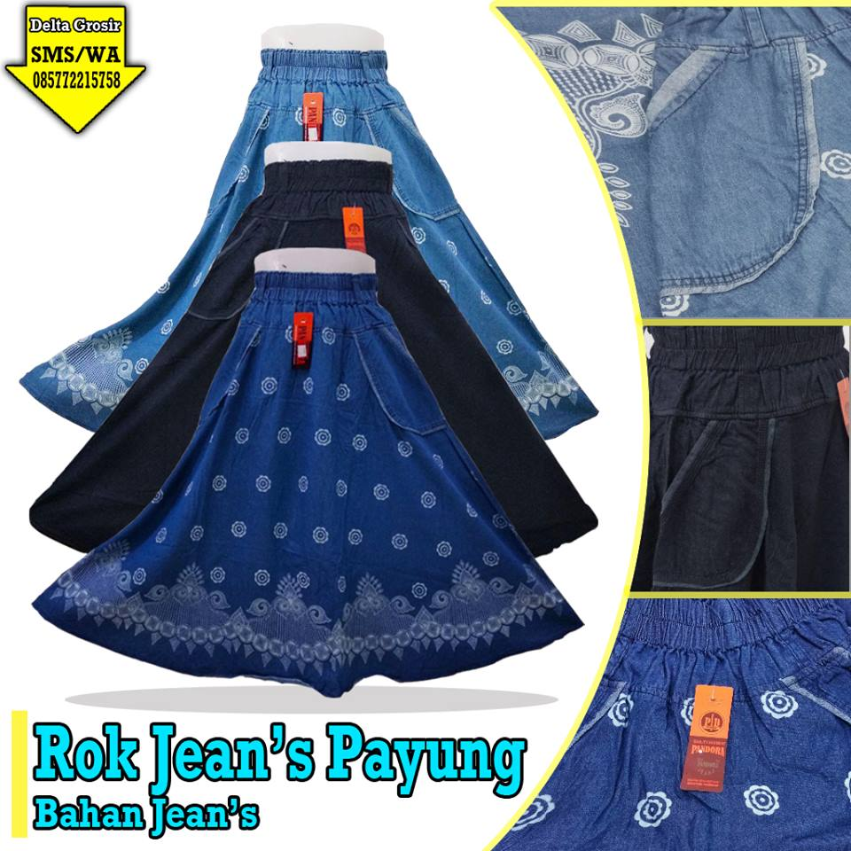 Distributor Rok Jeans Payung Dewasa Murah