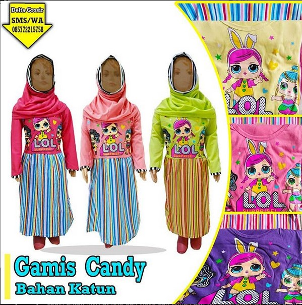 Supplier Gamis Candy Anak Murah