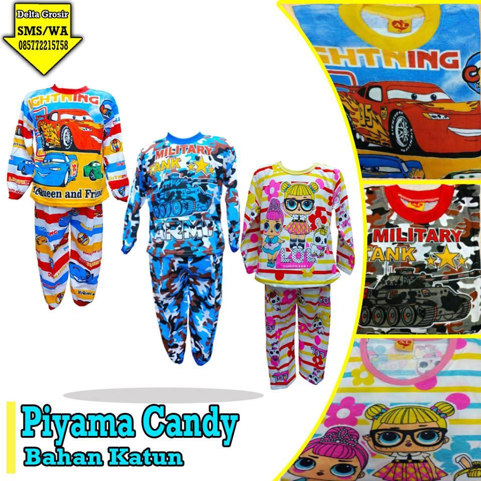 Pusat Kulakan Piyama Candy Anak Murah