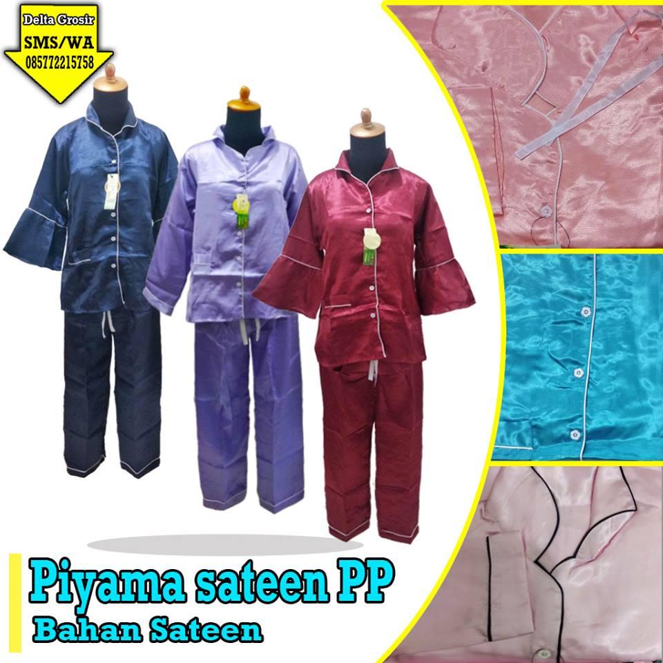 Pabrik Piyama Sateen PP Dewasa Murah di Surabaya