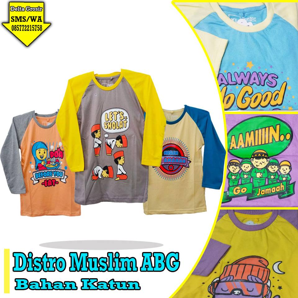 Supplier Kaos Distro ABG Murah