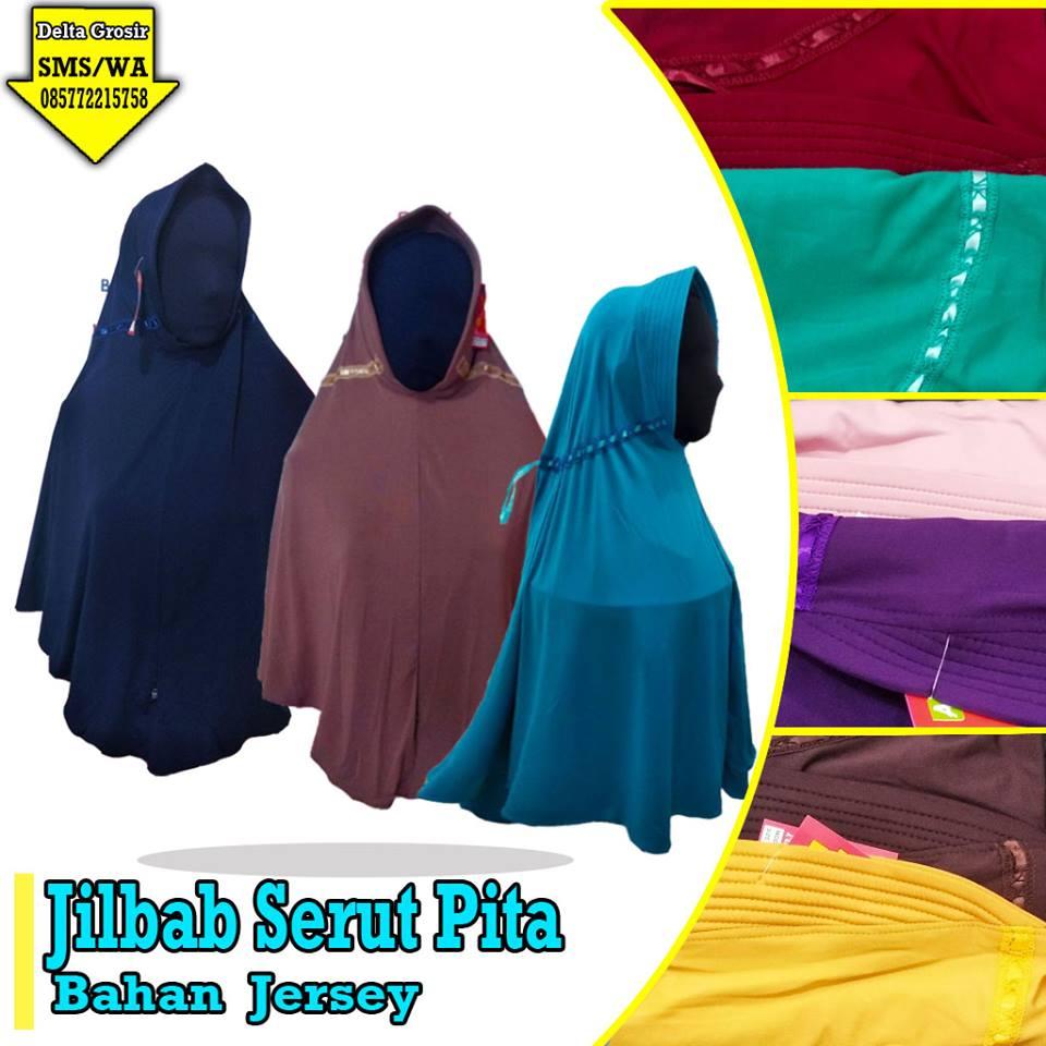 Grosir Jilbab Serut Pita Dewasa Murah di Surabaya