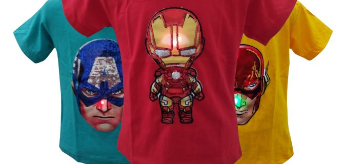 Grosir Kaos LOL LED Anak Murah di Surabaya