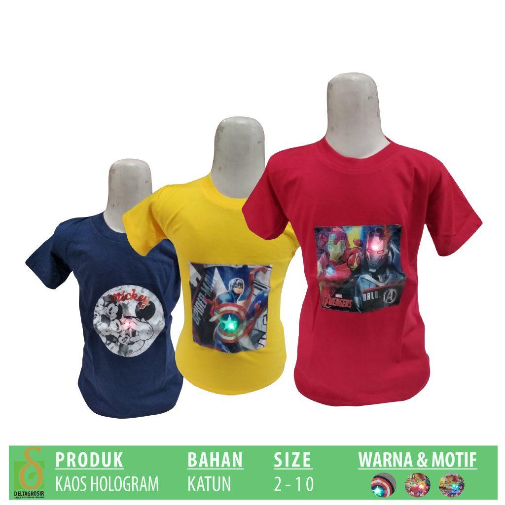 Supplier Kaos Hologram Anak Murah