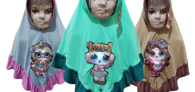 Konveksi Kerudung Jersey LED Anak Murah di Surabaya