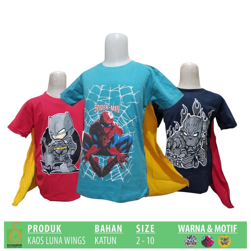 Grosir Kaos Luna Wings Murah