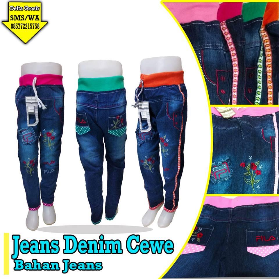 Grosir Jeans Denim Cewe Anak Murah di Surabaya
