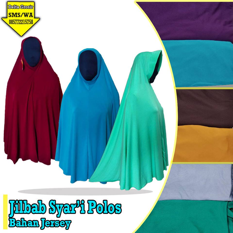 Pabrik Jilbab Syar'i Polos Dewasa Murah di Surabaya